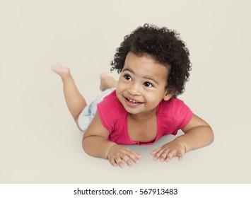 Child Cheerful Studio Portrait Concept