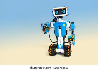 Robot Plastics Details Programmed On Computer Stock Photo Edit Now