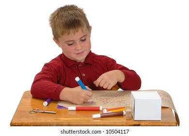 Child coloring paper for gift