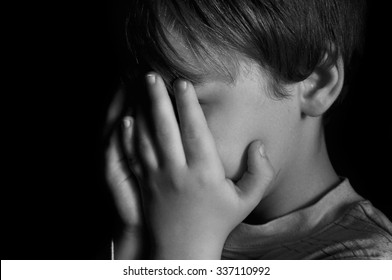 Child crying in dark