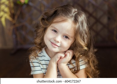 Child Cute Little Emotional Girl 4 Stock Photo Edit Now 604172273