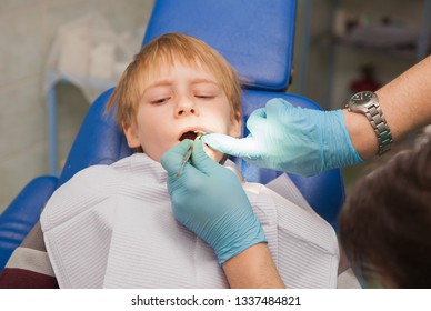 child in the dental office