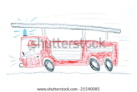 child drawing fire truck made wax stock photo edit now 21540085