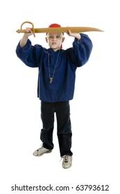 Child dressed in a pirate costume