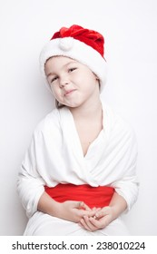 Child dressed as Santa Claus