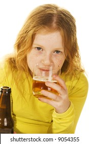 child is drinking alcohol