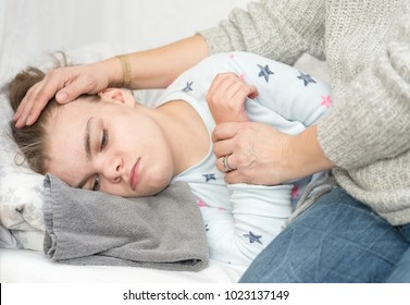 A child with epilepsy during a seizure