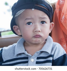 Child with face expression.