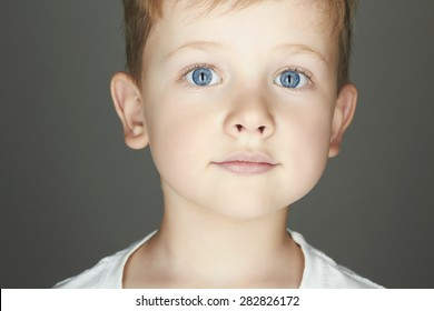 child. funny little boy. close-up. joy. 5 years old.Trendy children of the world.kids emotion
