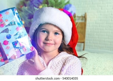 Child and gift.