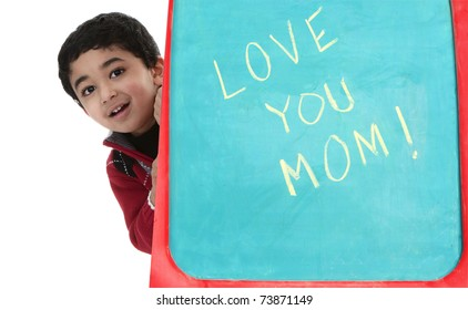 Child Greets Mom on Mothers Day