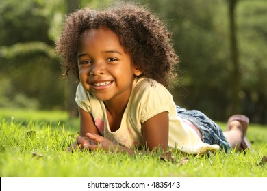 Child having fun in a park