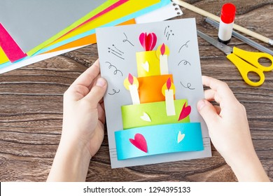 Astonishing Handmade Card Images Stock Photos Vectors Shutterstock Personalised Birthday Cards Veneteletsinfo