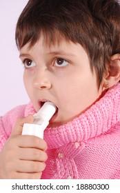 child with inhaler does medicine procedure
