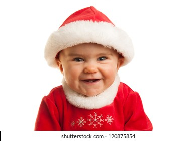 Child laughing at Christmas