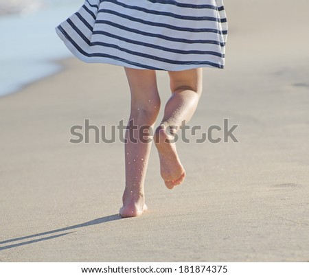81f8a13a5 ... Stock Photo (Edit Now) 181874375 - Shutterstock. Child legs running on  the beach.