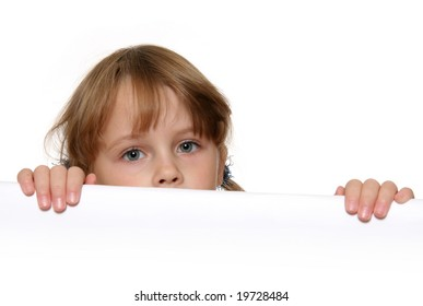 Child looking over