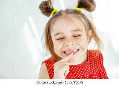 The child lost a tooth