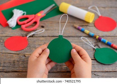Easy Christmas Crafts Make Home Gray Stock Photo Edit Now
