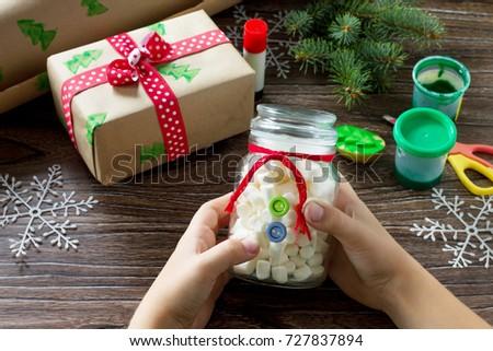 Child Making Christmas Presents Christmas Gift Stock Photo Edit Now