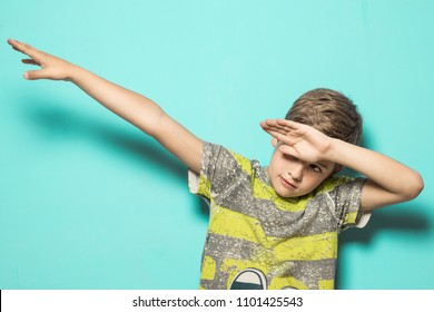 Child making DAB .Guy dancing dab