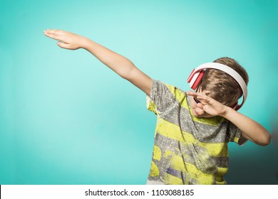 Child making Dab .Kid dancing Dab