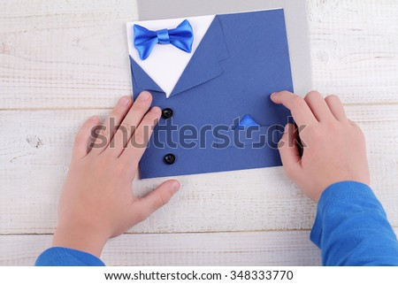 Child making greeting card father handmade stock photo edit now child making greeting card for father handmade dad happy birthday card happy fathers day m4hsunfo