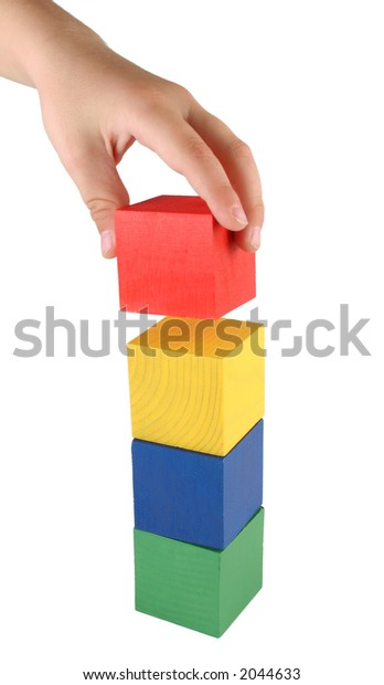 child making tower
