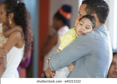 Child with microcephaly is seen in an entity that cares for people affected by congenital zika syndrome in the city of Salvador (Brazil). April, 27, 2017.