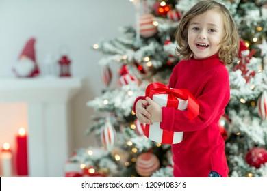 Child on Christmas