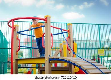 child on outdoor Playground