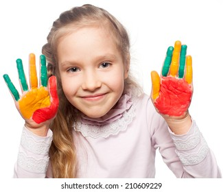 Child with painted palms