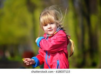 Child in park.
