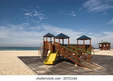 child playground  on the beach