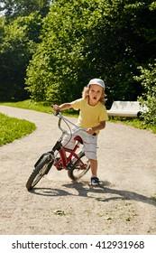 child playing bike
