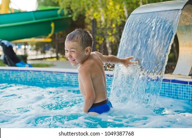 child is playing in the children's pool