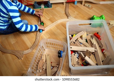 Child playing with educational toys (Logopedics, Ergo therapy)