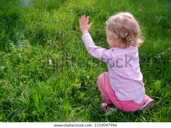 child-plays-on-green-lawn-600w-151004798