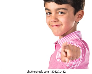 child pointing to the front