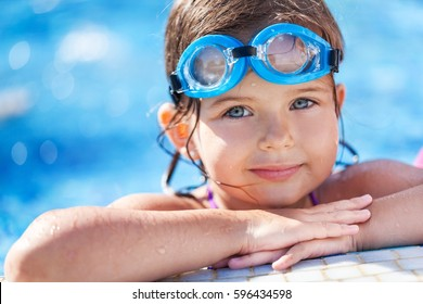 Child in pool.