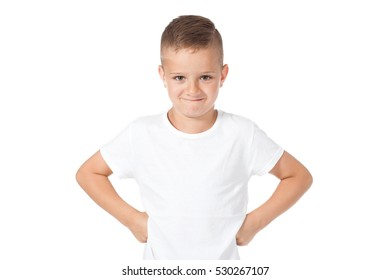 child- portrait- boy in a white shirt