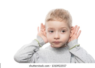 a child of preschool age does not hear well. hearing problems in children