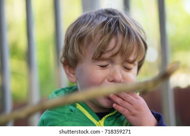 Child punched in face by wooden stick