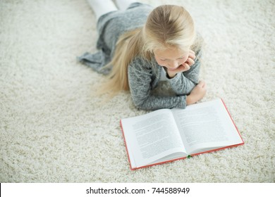 The child is reading