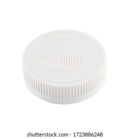Child safety package lid cap isolated