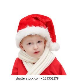 child in Santa Claus