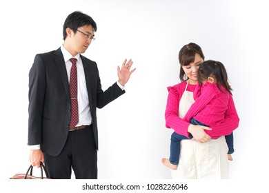 Child sending father off