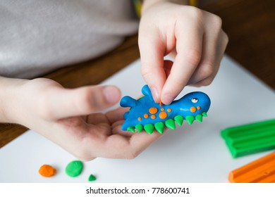 child shapes of plasticine