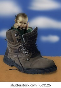 Child in shoe
