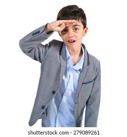 Child showing something